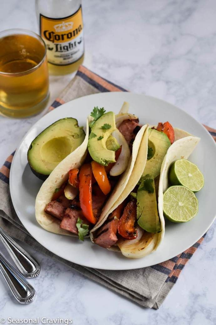 Grilled Sausage Tacos - Seasonal Cravings