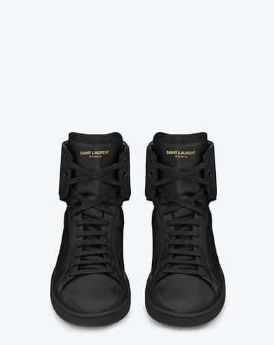 top Irresistible  High Top Laurent Saint sneakers Sneakers  high  with   Saint High Tops  and shorts Black   Tops Black SF   High Laurent