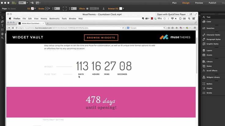 Countdown Clock Widget - Adobe Muse CC Tutorial - MuseThemes.com