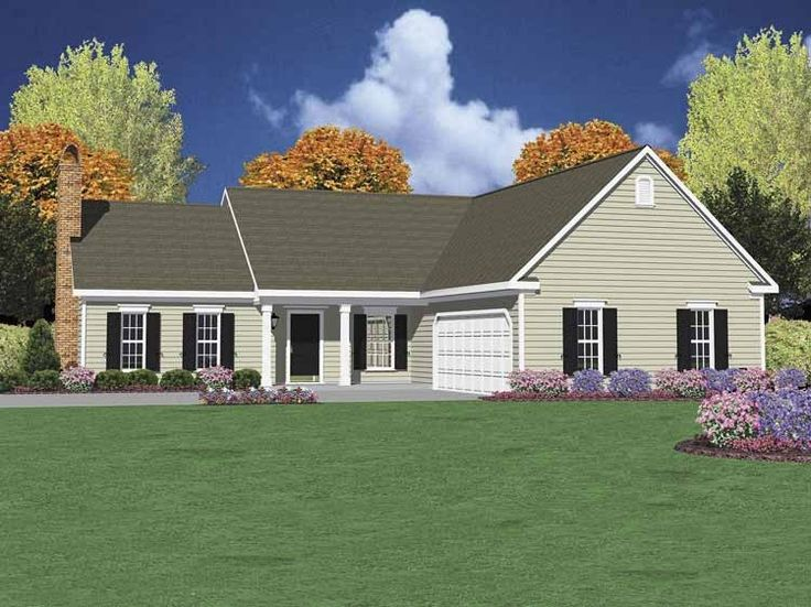 Eplans Cottage House Plan - Three Bedroom Cottage - 1502 Square Feet and 3 Bedrooms from Eplans - House Plan Code HWEPL61536