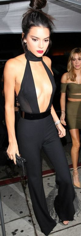 Kendall Jenner: Purse – Givenchy  Shoes – Francesco Russo  Jumpsuit – Sergio Hudson