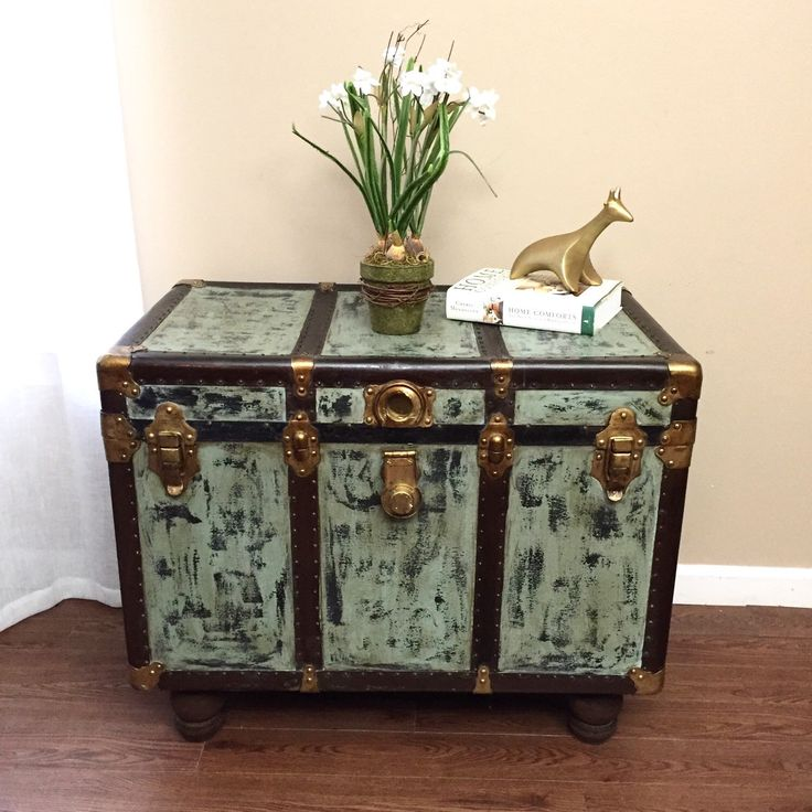 Coffee Table Vintage Steamer Trunk Coffee By Madenewdesignct