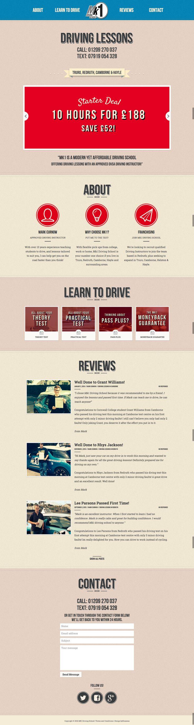 New in portfolio: Retro website re-design for local driving school, MK1…