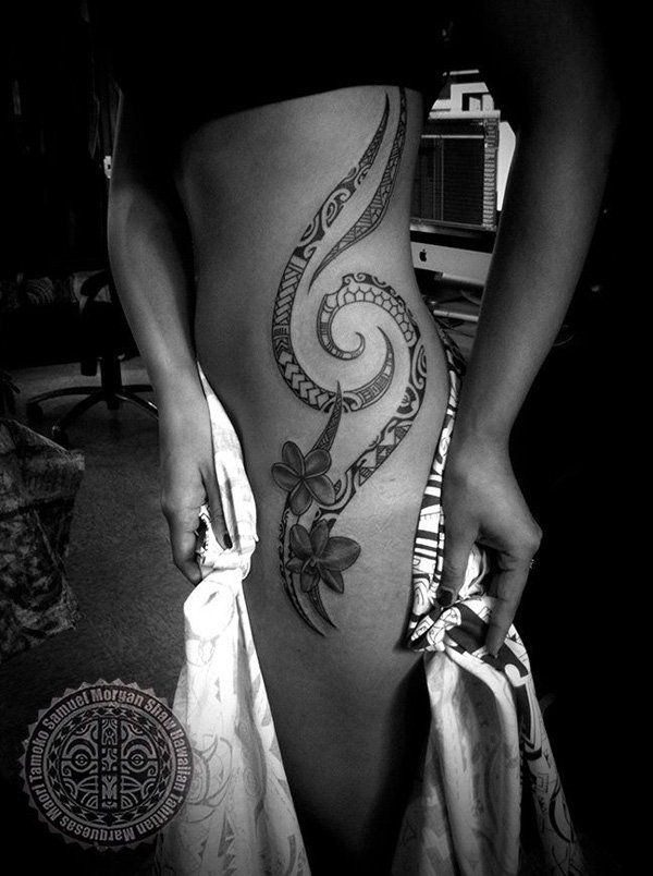 Polynesian Tattoo for women by Samuel Morgan Shaw - 70  Awesome Tribal Tattoo Designs  <3 <3