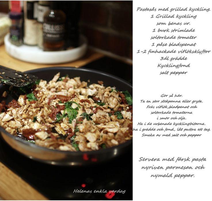 Helenas enkla vardag: Superenkelt och gott recept med grillad kyckling.