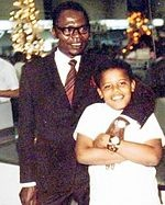 Early life and career of Barack Obama - Barak & his dad in Hawaii circa 1971. Obama's parents met in a basic Russian language course in 1960 while both were attending the University of Hawaii at Manoa, where Obama's father had enrolled as the university's first African foreign student in September 1959. Obama's parents were married on Maui on February 2, 1961. Obama was born in Honolulu on August 4, 1961 at the old Kapiolani Maternity and Gynecological Hospital at 1611 Bingham Street.