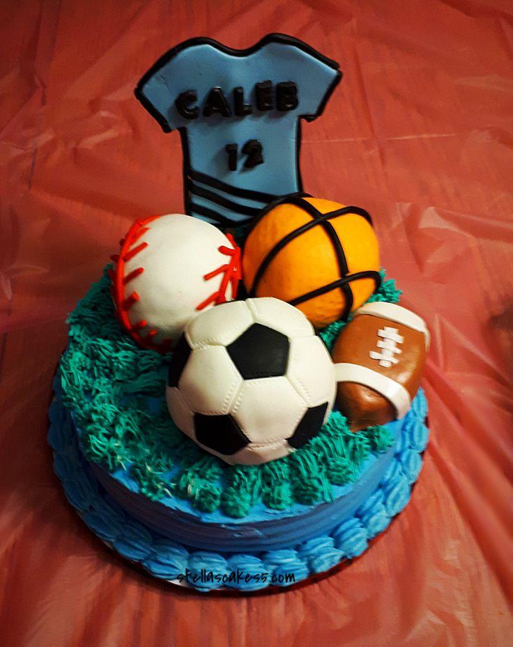 Birthday Sports theme cake