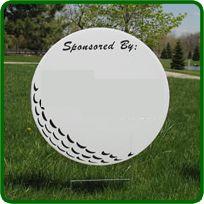 golf sponsor signs -