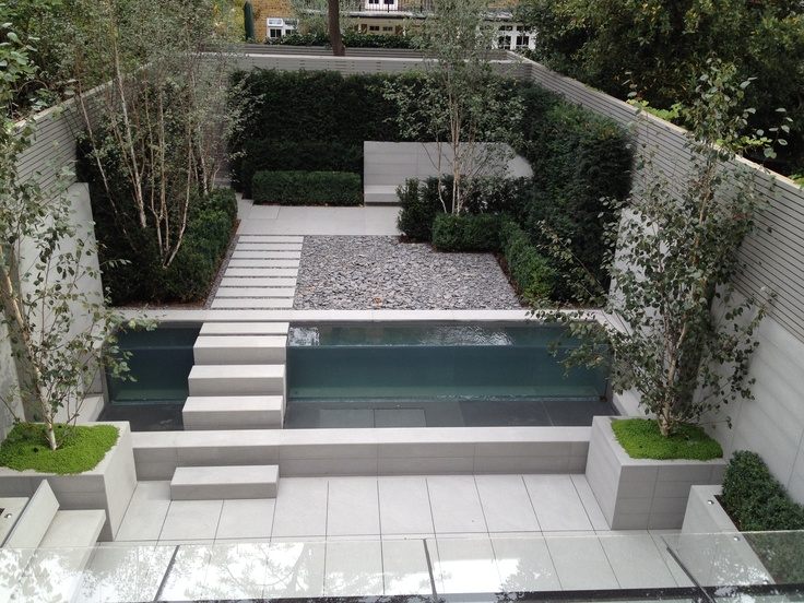Garden and water feature design in a residential project in London