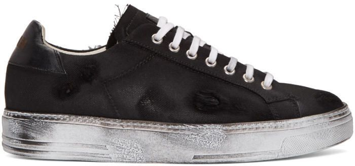 Special Offer Mens Msgm Black Worn Out Retro Sneakers