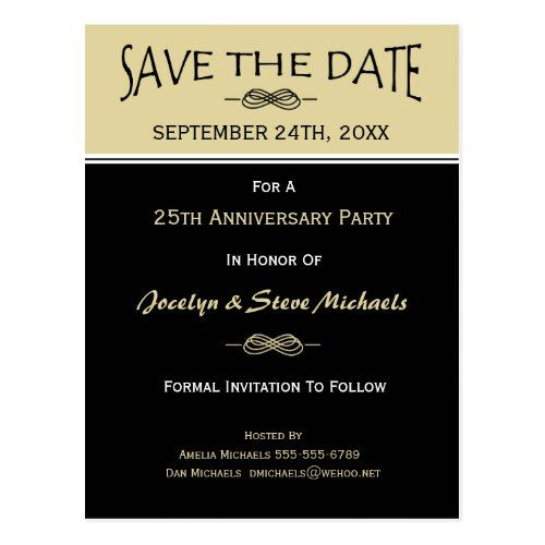 party reunion event save the date postcard retirement party
