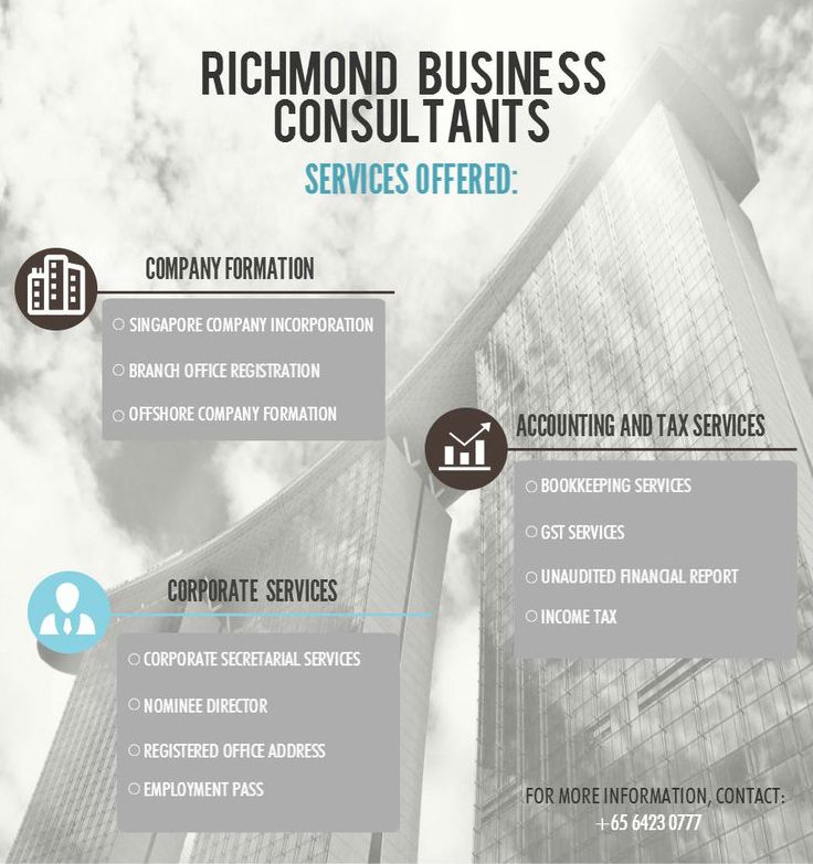 Richmond Business Consultants services offered. #Singapore #Incorporation #Entrepreneur #Startups #RBCSingapore