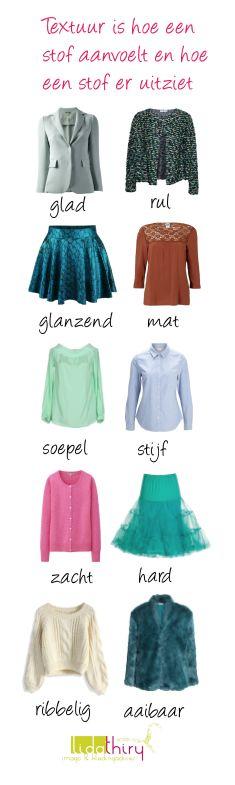 Kies die textuur die bij je #bodytype en je persoonlijke stijl past   www.lidathiry.nl   klik op de foto voor de tips #textuur