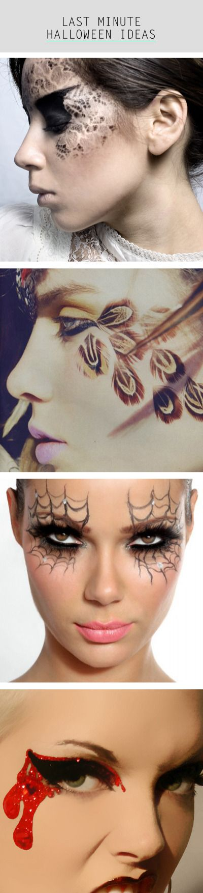 Last Minute Halloween Makeup Ideas  come to school on oct/31 and u will sure get response with cool make up like this!!