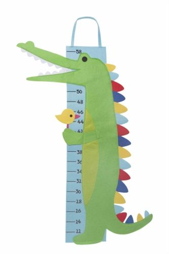 This felt growth chart is perfect for any nursery. Mark little boy's height with a sharpie to document growth!