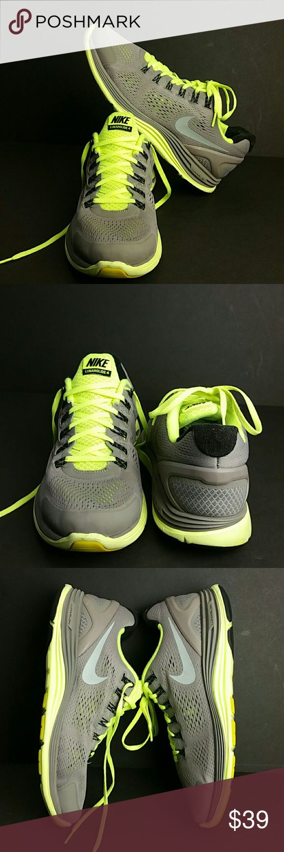 NIKE LUNARGLIDE 4 IV MEN'S SHOES IN GOOD CONDITION   SKE # KU5 NIKE Shoes Athletic Shoes