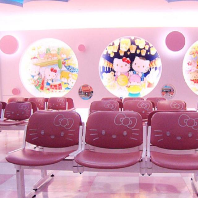 Sala de espera del Hello Kitty Hospital en Taiwan
