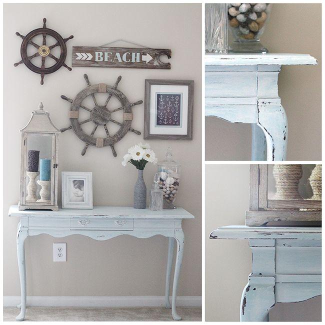 DIY & Crafts - Home Decor: A Gorgeous Coastal Console Table Makeover