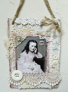 Shabby Chic Inspired: another collage... from a book cover
