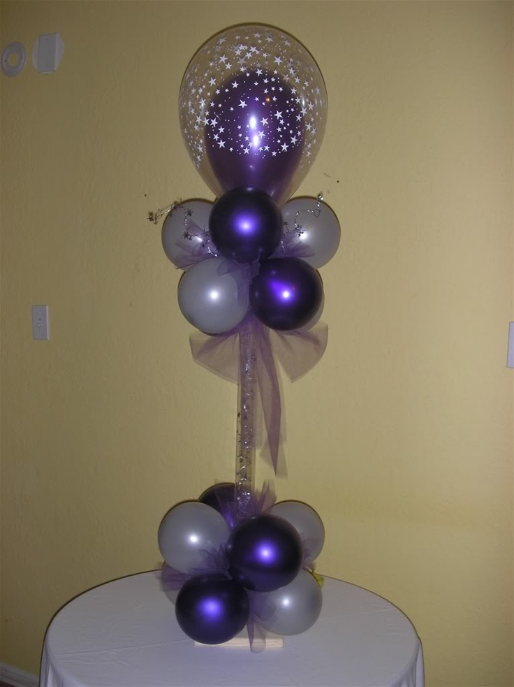Balloon centerpiece decorations party ideas pinterest