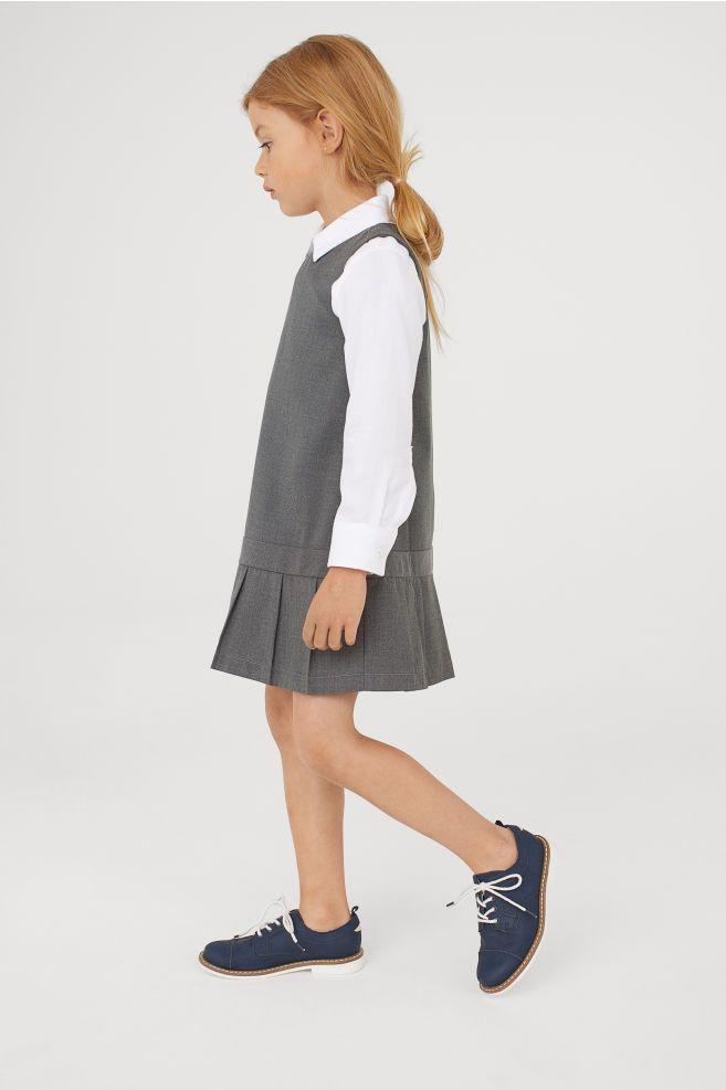 1d946af0554 Pleated Dress - Dark gray - Kids