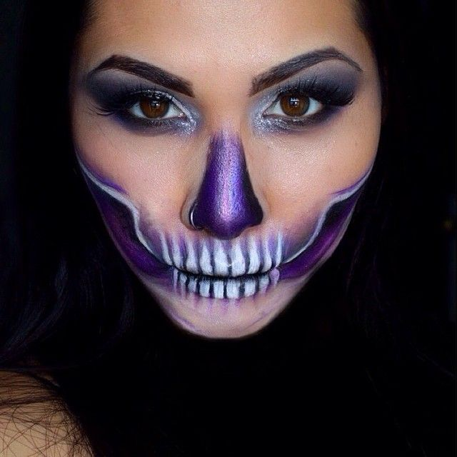 quick half skull again super simple look for any last minute halloween ideas literally - Skull Halloween Decorations