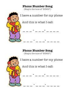 Imagination Express Preschool: Phone number song