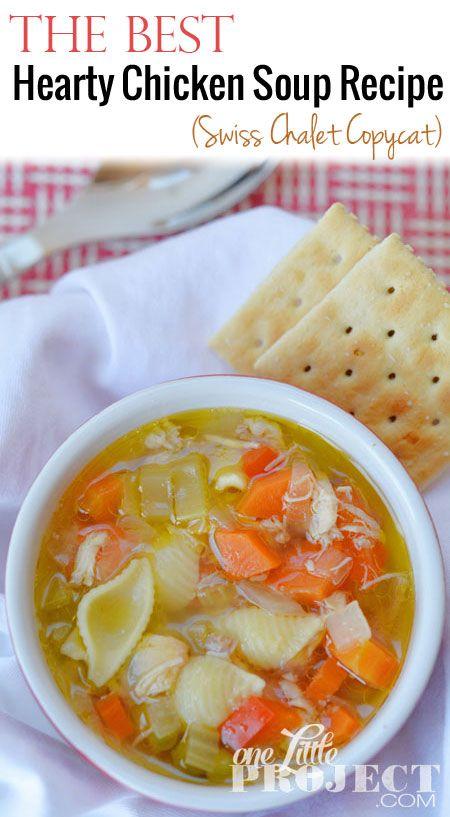 Hearty Chicken Soup Recipe   Swiss Chalet Soup Copycat Recipe