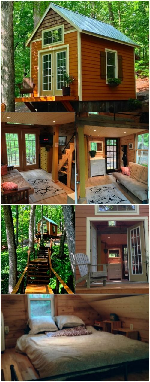 Chicken Coop Builder Transitions to Tiny Houses and We're in Love - James is the owner of Otter Hollow Design company and for many years has specialized in building premium chicken coops out of Atlanta. Recently though, he decided to try his hand at tiny houses and we're loving one of his first homes known as the Otter Den. The tiny house is roughly 250 square feet and has charming details on the outside and tall ceilings on the inside.