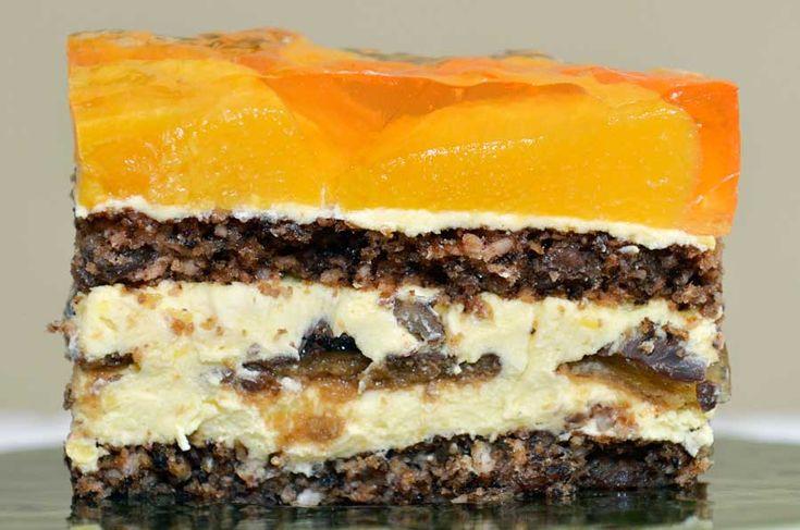 Ciasto z brzoskwiniami w galaretce