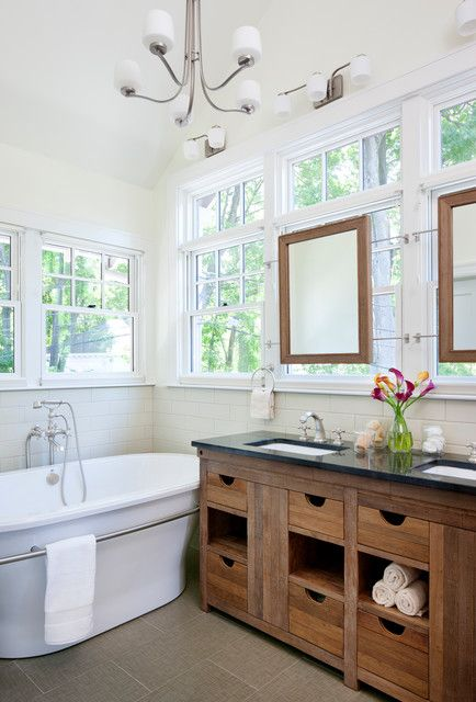 COLONIAL BATHROOM Design, Pictures, Remodel, Decor and Ideas