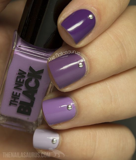 The Nailasaurus   UK Nail Art Blog: 31DC2013 Day 6: Violet Nails