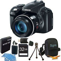 Canon PowerShot SX50 HS 12.1 MP Digital Camera with 50x Wide-Angle Optical Image Stabilized Zoom Super Bundle W/ 32 GB Secure Digital (SDHC) Mem. Card, Dig Pro Case SD USB 2.0 Card Reader, BP 1150 - http://bestcamerasforphotography.bgmao.com/canon-powershot-sx50-hs-12-1-mp-digital-camera-with-50x-wide-angle-optical-image-stabilized-zoom-super-bundle-w-32-gb-secure-digital-sdhc-mem-card-dig-pro-case-sd-usb-2-0-card-reader-bp-1150/