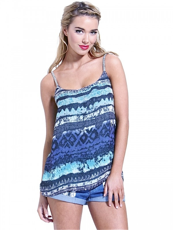 Victoria Tribal Cami by Sass  Now: $41.99 #cami #tribal #print