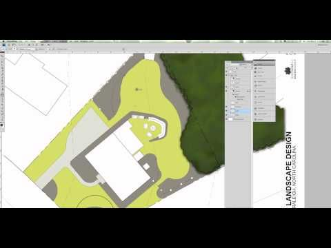 Site Plan Rendering in Photoshop - how to render a site plan in Photoshop, that was created in AutoCAD