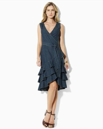 Denim Bridesmaid Dress For A Country Or Rustic Wedding