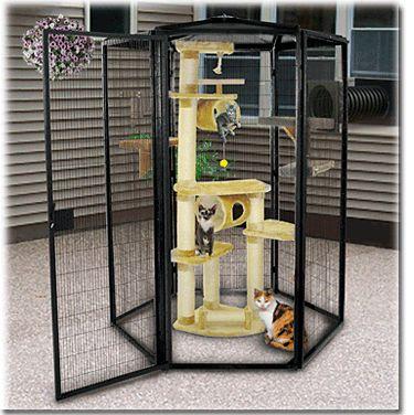 5ft Diameter SunCATcher Cat Cage, Cat Condo, Outdoor Cat Enclosure