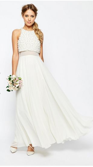 Cool and funky wedding dress