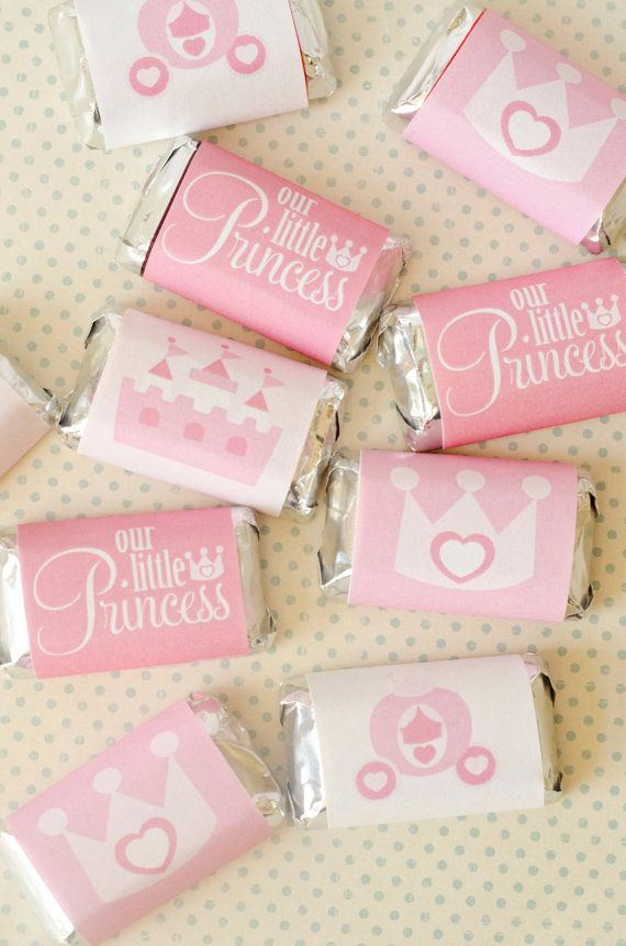 Pinkalicious Princess Party PRINTABLE Mini Candy Bar Wrappers (INSTANT DOWNLOAD) by Love The Day on Etsy, $9.00