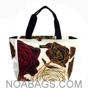 Jim Thompson Luxury Canvas Summer Bag Off-White Floral Multicolored
