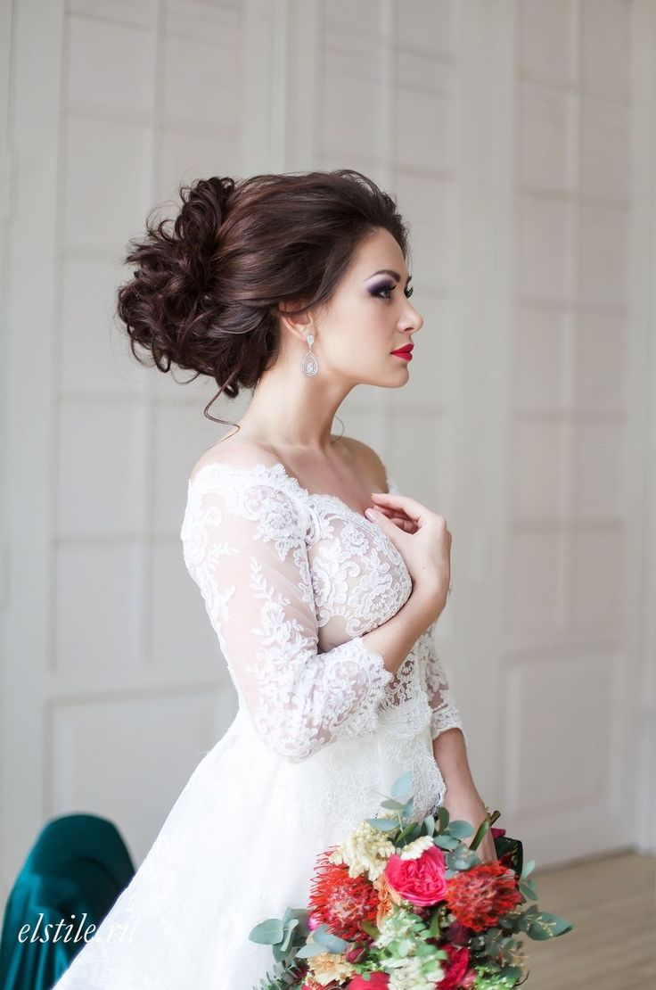 214 best свадебная прическа images on Pinterest | Wedding hair ...