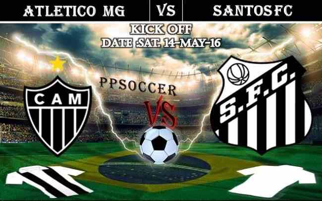 Atletico MG vs Santos FC 15.05.2016 Free Soccer Predictions, head to head, preview, predictions score, predictions under/over Brazil: SERIE A