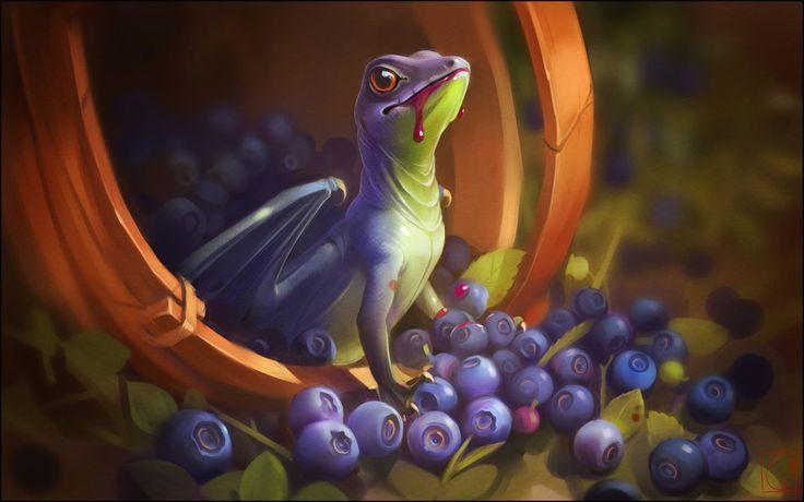 Blueberry dragon by GaudiBuendia.deviantart.com on @DeviantArt