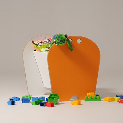 #Andy - #Toy #basket - The large toy-storage is perfect to learn day by day how to reach and organize toys. Choose the white version, and let your #children paint it with the #colors of the rainbow! - http://eco-and-you.com/en/shop/andy/