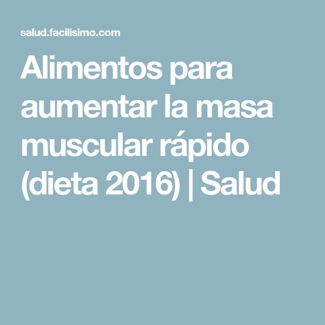 Alimentos para aumentar la masa muscular rápido (dieta 2016)   Salud