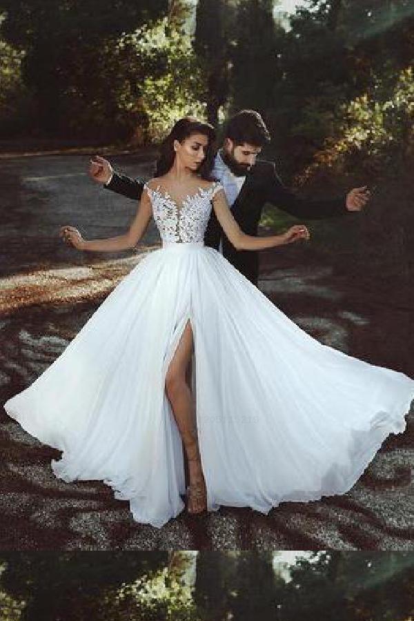 Discount Enticing Lace Wedding Dress, Wedding Dress A-Line, 2019 Wedding Dress