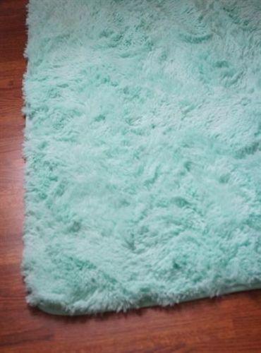 Dorm Room Rugs: College Plush Rug - Calm Mint
