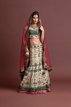 Love the Bridal Ghagracholi from BenzerWorld!