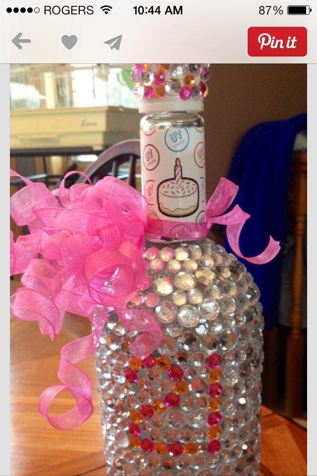 21st birthday present - cake vodka