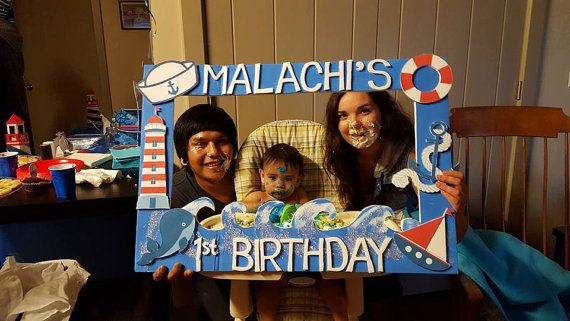 Nautical Boat Sailor Themed Party Photo Prop by LaraGirlsDesigns
